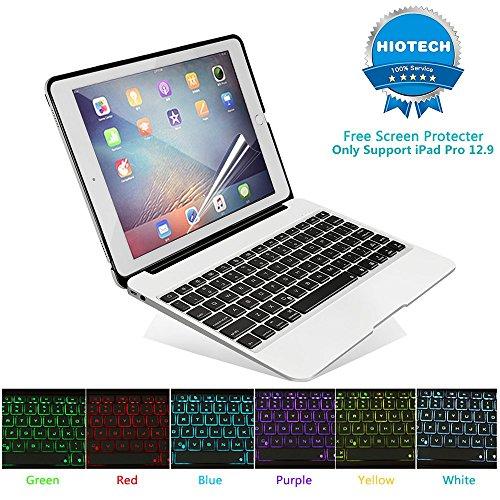 HIOTECH iPad Pro 12.9 Keyboard Case Bluetooth Aluminum Al...