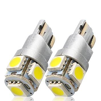 LncBoc T10 W5W Bombillas LED Coche 2SMD 5050LED 555 501 558 2825 175 192 168 194