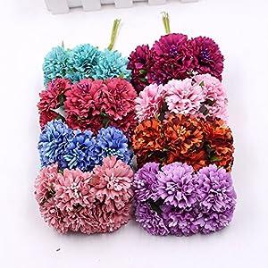 Artificial Flower Roses Wedding Decoration Home Decoration Festivals Party Decorations Silk Daisy Flower 30PCS 4CM (orange) 3