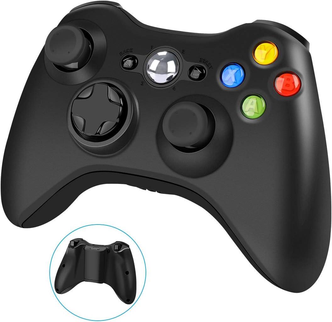 Wireless Controller for Xbox 360, YAEYE 2.4GHZ Gamepad Joystick Wireless Controller for Xbox 360 Console and PC Windows 7,8,10 (Black): Electronics