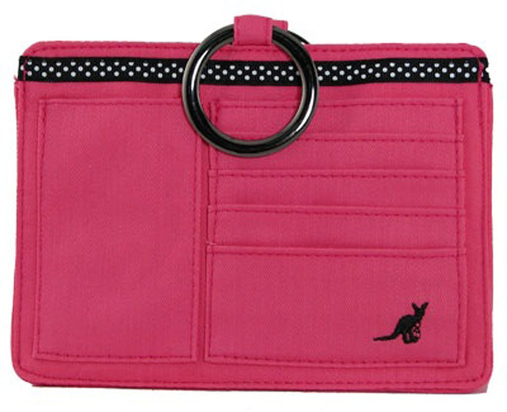 Cotton Pouchee Purse Organizer-Pink Cotton