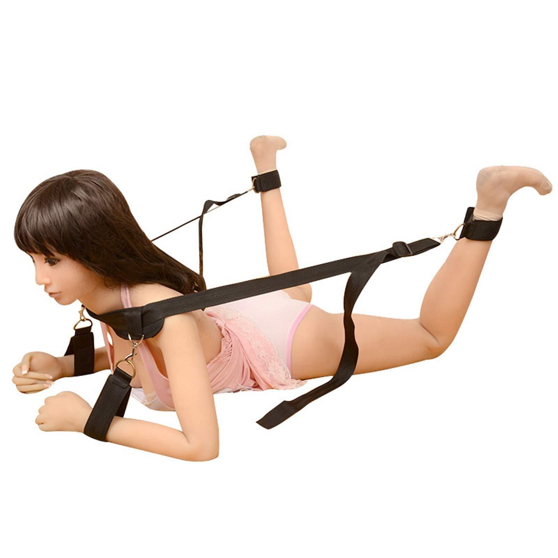 QINZOUTIANXIA Sex Bondage BDSM Sex Game Toy, Leg Open Restraints Neck Handcuffs Ankle Cuff Straps, Adult Fun Games Sex Toys for Couples
