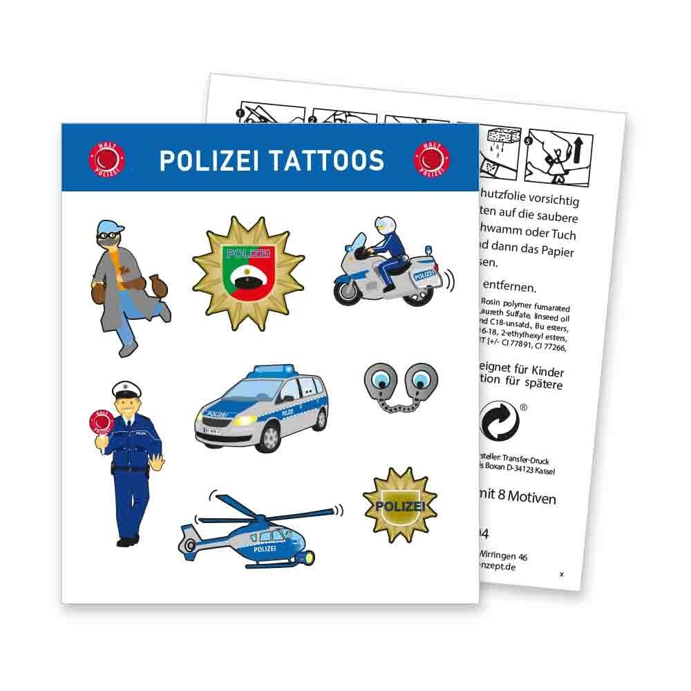 Firlefantastisch Policía Tattoo arco: Amazon.es: Juguetes y juegos