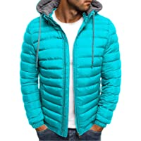 MisFox Down Hooded Jacket para Hombre Lightweight Compressible Chaquetas Acolchadas Waterproof Breathable Plumón Ropa…