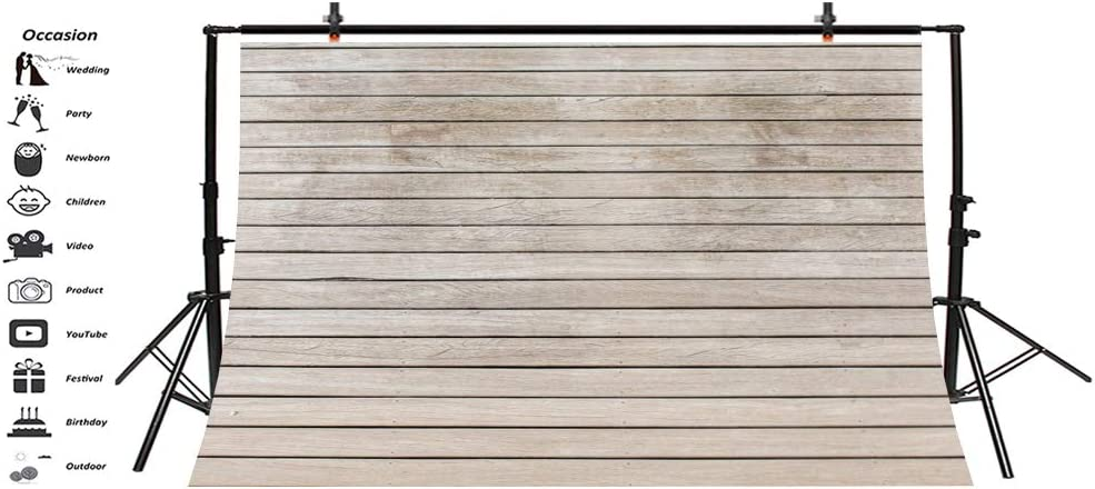 LFEEY 5x3ft Polyester Wood Backdrops for Photography Baby Children Photo Backdrop White Wood Floor Wall Scene Backdrop Photo Studio Props