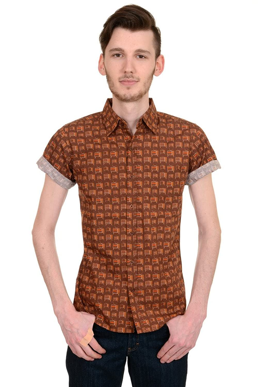 1960s Mens Shirts- Dress, Mod, T-Shirt, Turtleneck  Indie Preppy Retro TVs Short Sleeve Shirt $34.95 AT vintagedancer.com