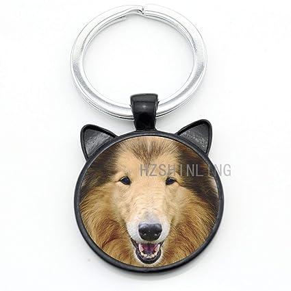Llavero con diseño de carlino y zorro rojo: Amazon.es ...