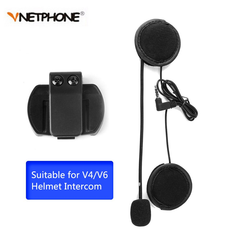 Vnetphone V4/V6 Bluetooth Intercom Headest Accessories & Clip Only Suit for V4/V6-1200 Helmet Intercom Motorcycle Bluetooth interphone with 3.5mm Jack Plug