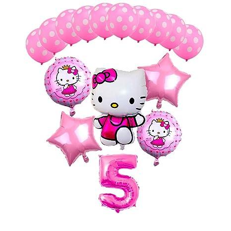 Amazon CuteTrees Hello Kitty Theme 5th Birthday Balloons