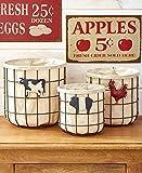 3 Country Vegetable/Fruit Baskets Farmhouse