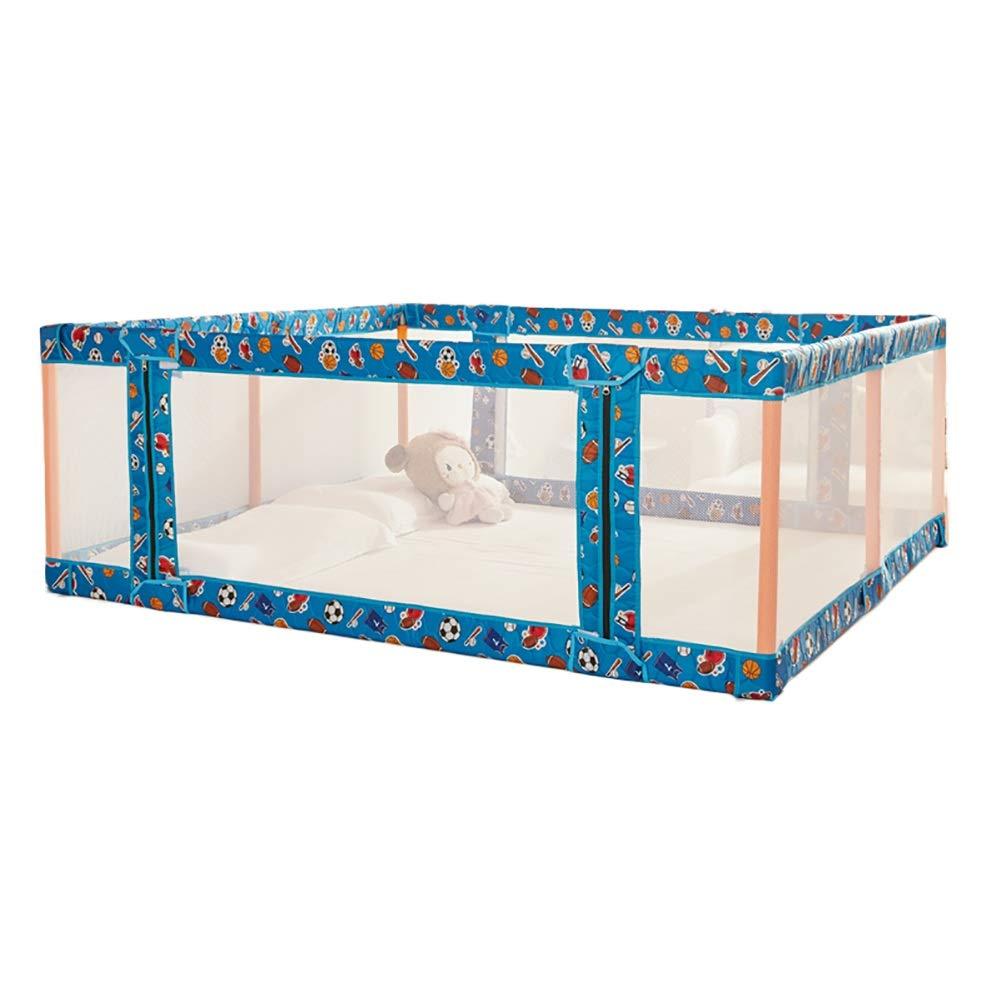 おすすめネット リトルボーイとガールズのための室内用安全防護ベッドガードレール(146×196×70 青 cm) (色 B07KST222Q : (色 青) 青 B07KST222Q, 手作り革鞄工房 futuro:a72ea9a5 --- a0267596.xsph.ru
