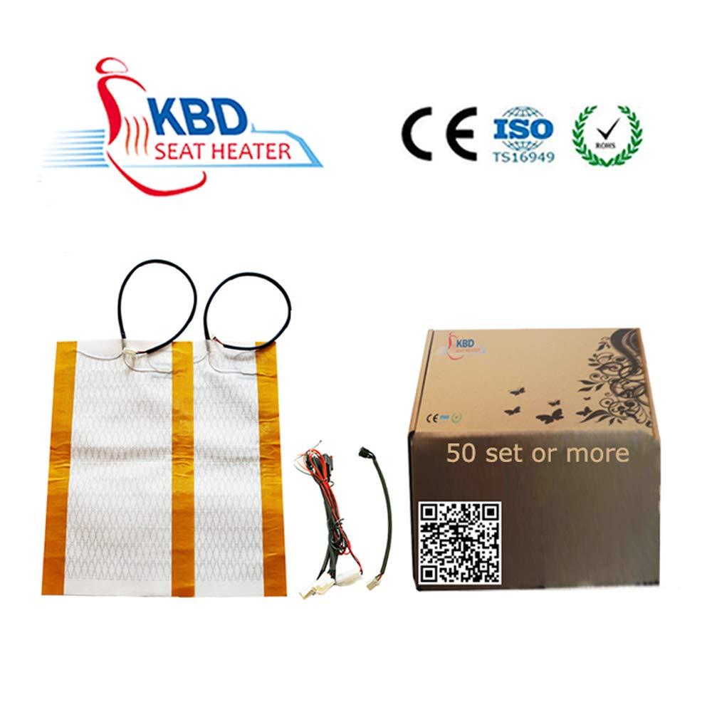 KBD Seat Heater Kit Universal Car Seat Carbon Fiber Heating Pad High//Low Setting 2 Seats