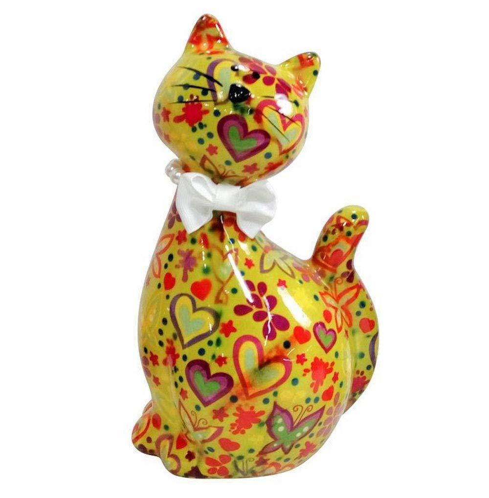 Pomme-Pidou Caramel Kitty Bank - Yellow