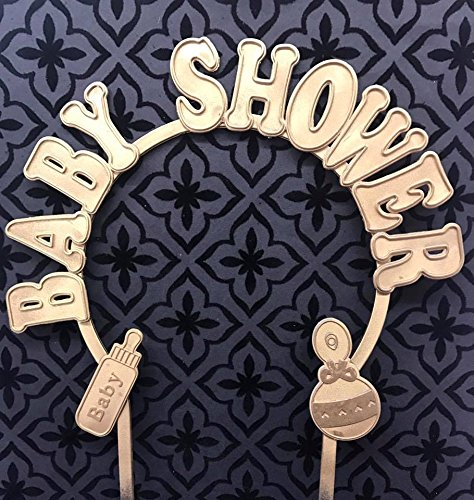 Baby Shower Gold Plastic Arch Cake Topper Decoration Keepsake Gift