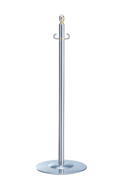 シロクマ フロアパーティションポール 金/ミディアムオーク 1本  FPP-1114 B00HTUKUZ4