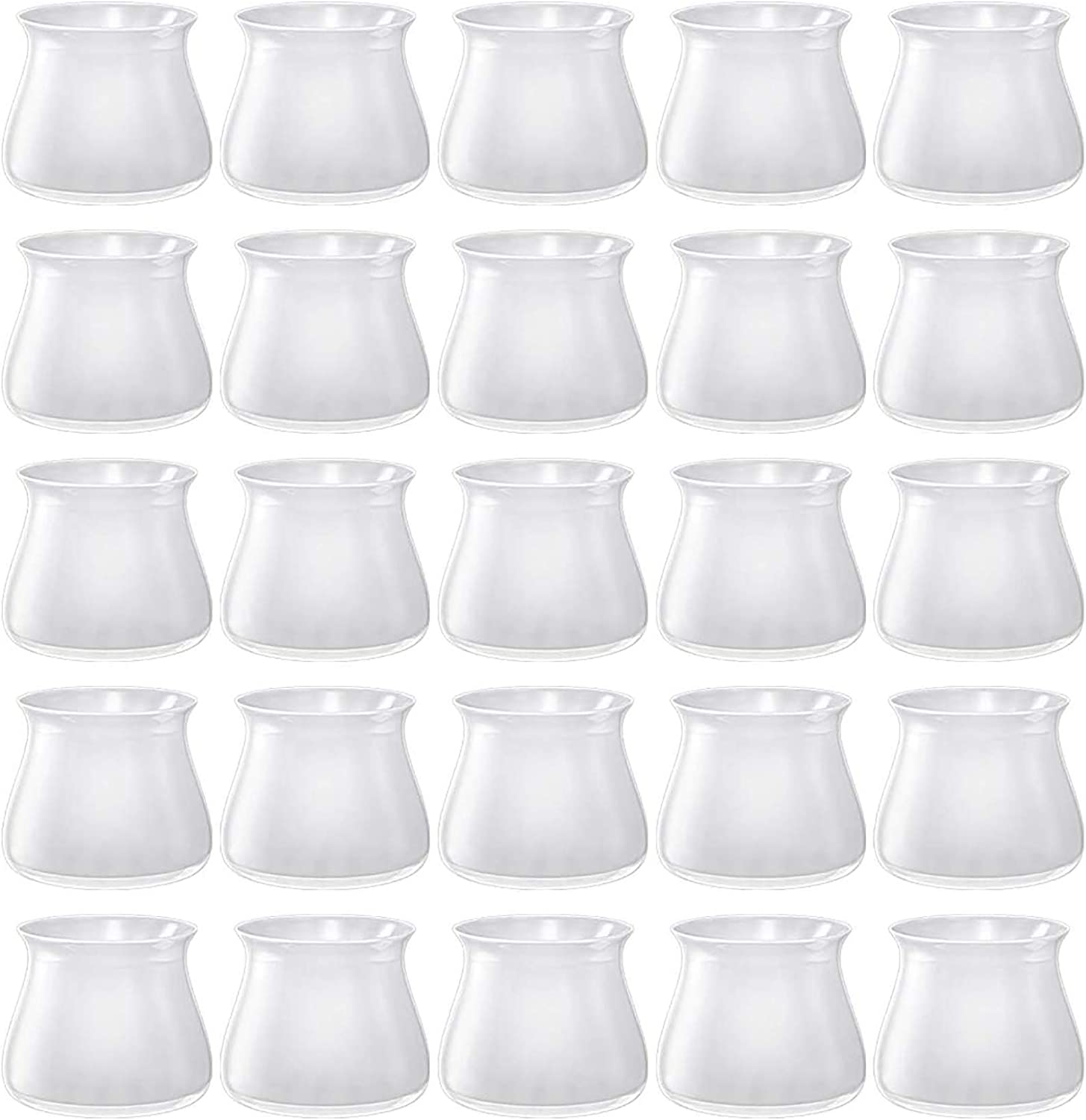 36 Pack Chair Leg Caps Floor Protectors, [Upgraded Version] Transparent Silicone Anti-Slip Chair Leg Pads Caps Cover, Round & Square Furniture Table Feet Covers, Prevent Scratches and Noise - Clear