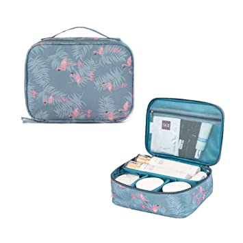 Flamingo Portable Printing Makeup Brush Organizer Travel Kit Cosmetic Bags  Jewelry Pouch Fashion zipper Carry On 577874efdd902