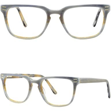 f3f43f82db60d Image Unavailable. Image not available for. Color  Square Men s Womens  Plastic Frames Gray Acetate Eyeglasses Glasses Spring Hinges