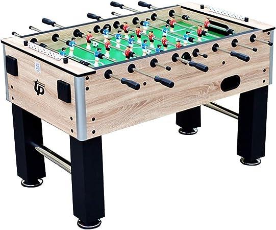 Qazxsw Tabla Adulto Fútbol, Juguetes educativos 8-Rod Mesa de la máquina de fútbol Sala Grande Mesa de Juego Infantil Doble Futbolín,Wood Color,140 * 75 * 87cm: Amazon.es: Hogar