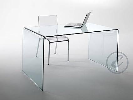 Scrivania Grande Da Ufficio : Scrivania scrittoio da ufficio in vetro temperato curvato luxury z