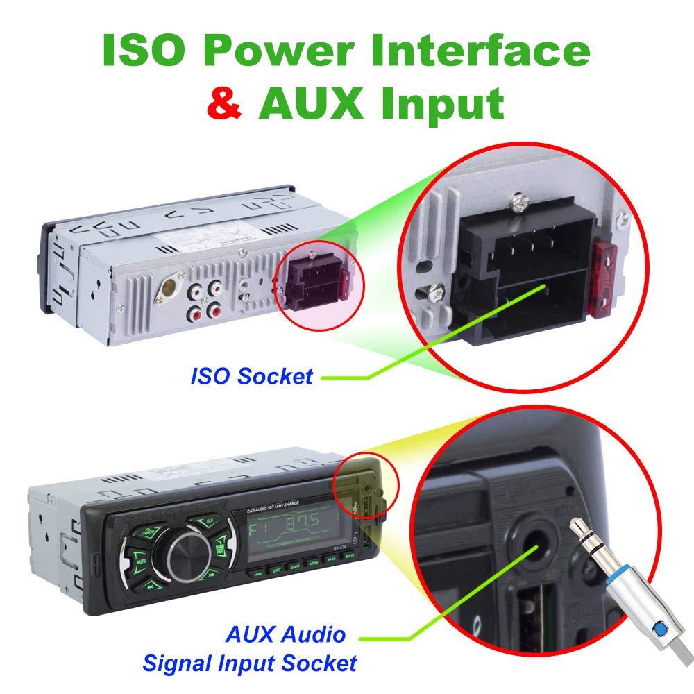 micr/ófono Hoidokly Radio del Coche 1 DIN Reproductor MP5 4.1 Pantalla t/áctil para autom/óvil,Est/éreo FM//Am//RDS Radio con Doble Puerto USB//AUX-in//SD Puerto C/ámara de Respaldo Control del Volante