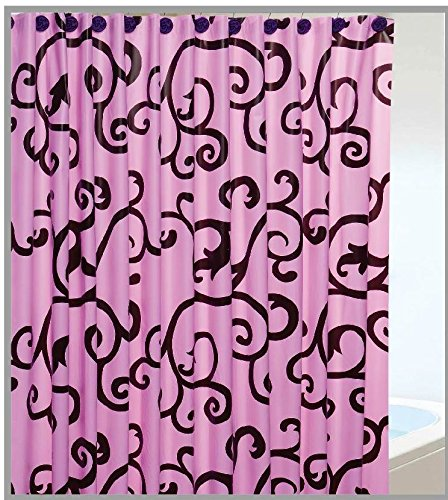 13 Pcs Set Garden Home Shower Curtain with Hooks No More Mildew 72'' X 72'' 05 by Garden at Home