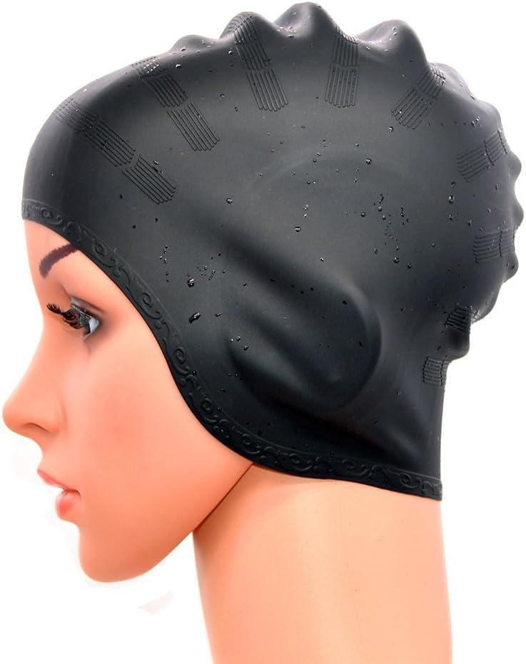 Medifier Silicone Warterproof Swim Cap Hat Earmuffs for Aldult both Men and Women