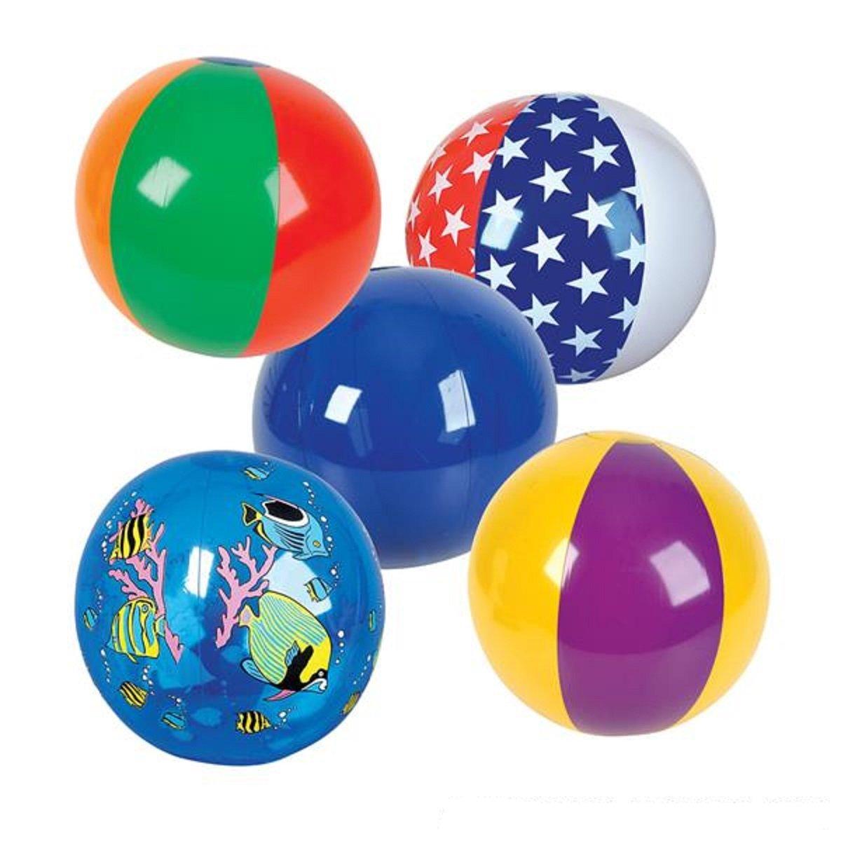 """16"""" Beach Ball Assortment - 25 Pack by RIN"""