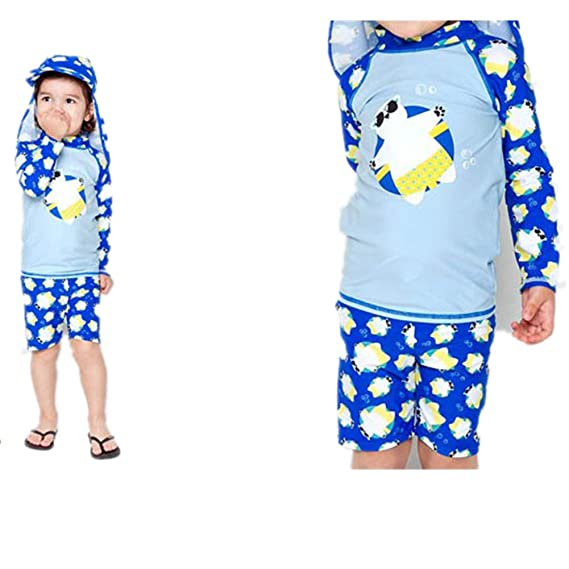 ALsmiley Boys Two Piece Rash Guard Swimsuits Kids Long Sleeve UV Sun Protection Sunsuit Swimwear Sets UPF 50+
