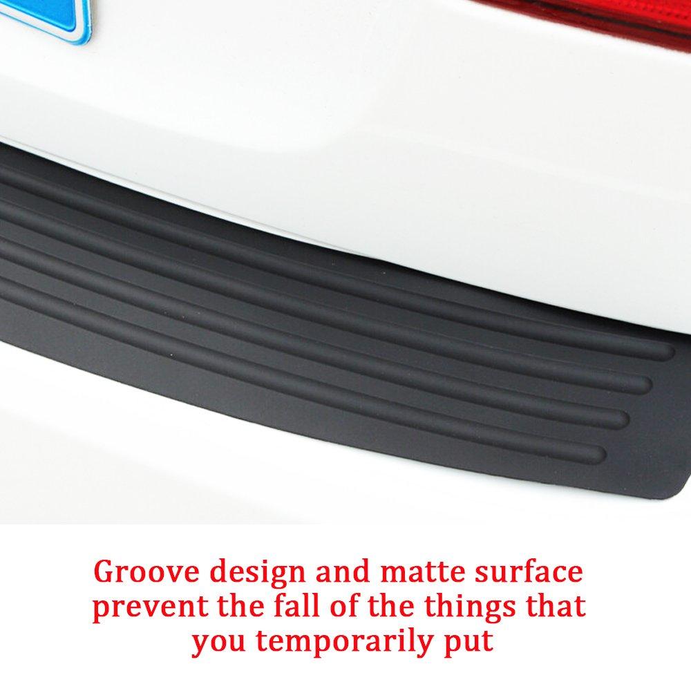 Black Car Rear Bumper Guard Rubber Protector Trim for Car Baird Stone Rear Bumper Protector 35.8 inches