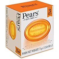 Pears Transparent Soap with Plant Oils, 3 Bars - 3 x 75 grams