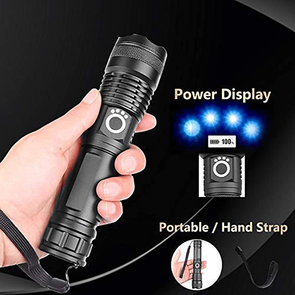 Xhp70 flashlight +26650+USB cable 90000 lumen xhp70.2 leistungsst/ärkste led taschenlampe usb zoom taschenlampe xhp70 , teleskop USB zoom wasserdichte camping taschenlampe