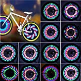 Bicycle Rim Lights,Rottay Waterproof Bicycle Wheel Lights Bike Spoke Light With 32-LED and 32pcs Changes Patterns for MTB Wheel Tire