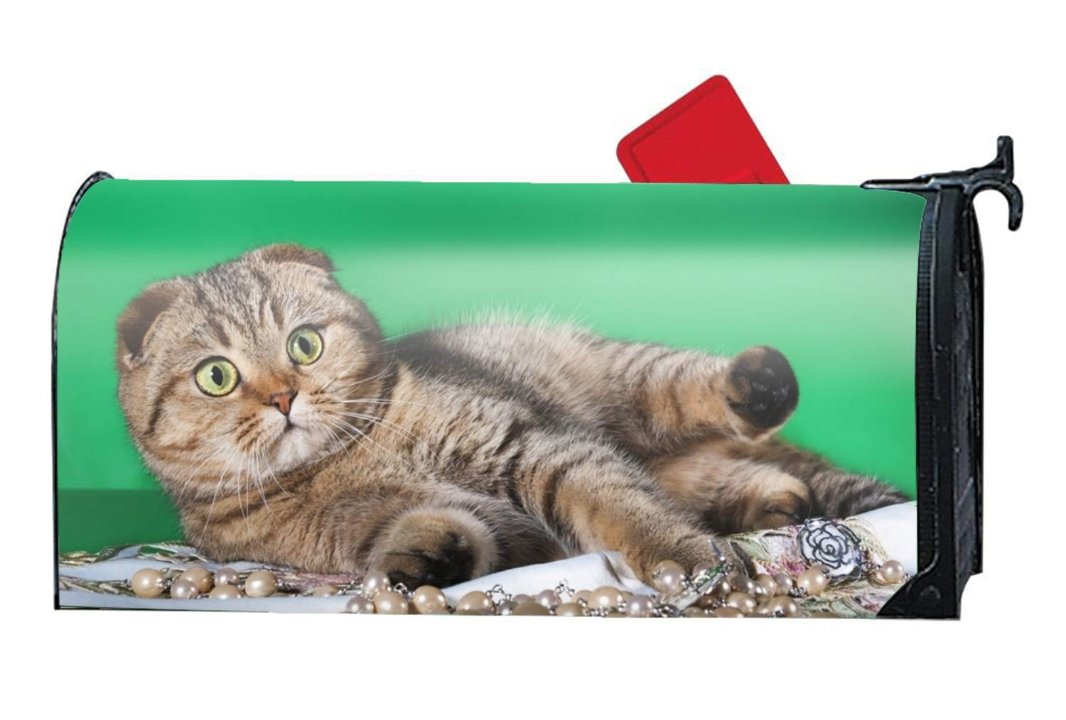 BABBY Mailbox Cover-Cute Lying Cat Magnetic Mail Box Cover-Cylinder Packaged by BABBY