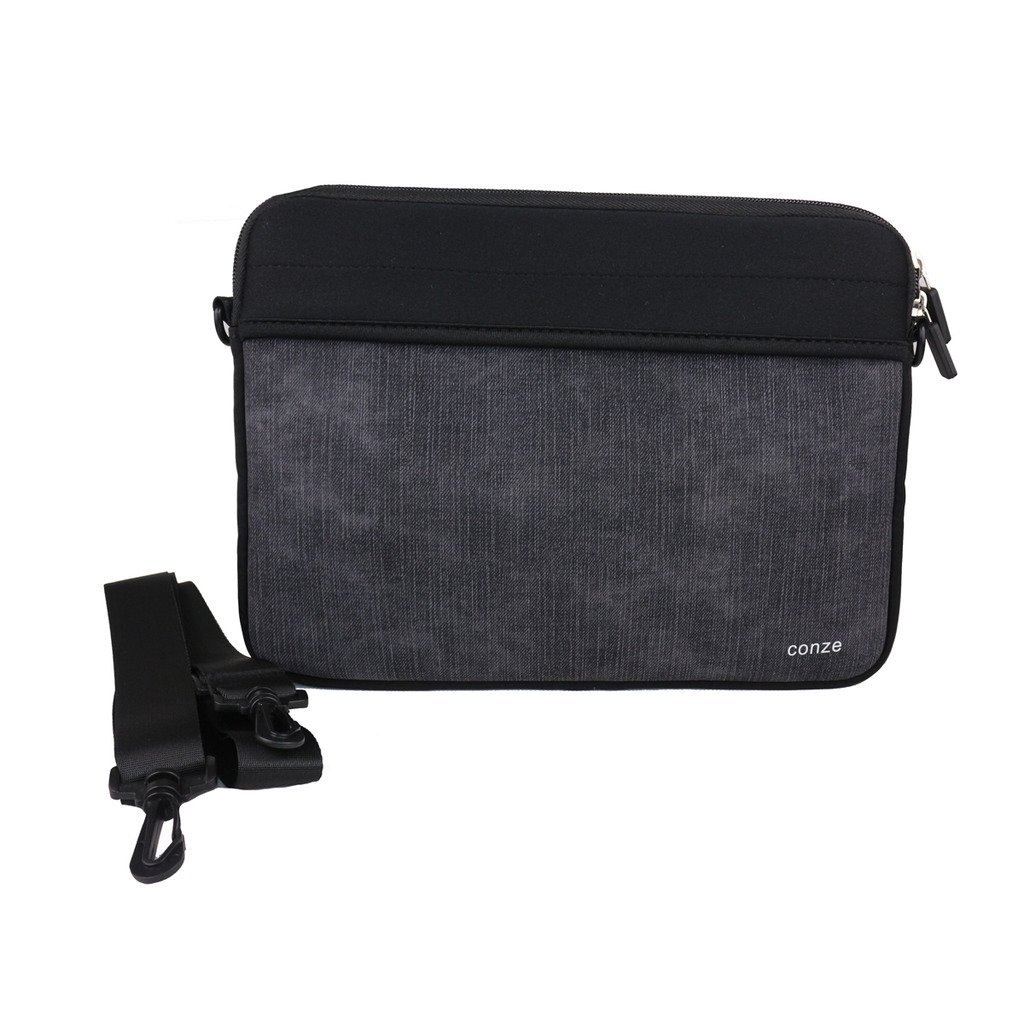 "chic Conze Convertible Sleeve Bag with front zipper closure,Loose fit 12""Tablets,Universal for Lenovo ThinkPad T420/ T460/ T460s/ T470/ T470s in Black"