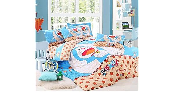 dreammaker, Niños Dibujos Animados conjuntos de ropa de cama queen size 3d impreso funda de edredón juego de ropa de cama (4 piezas): Amazon.es: Hogar