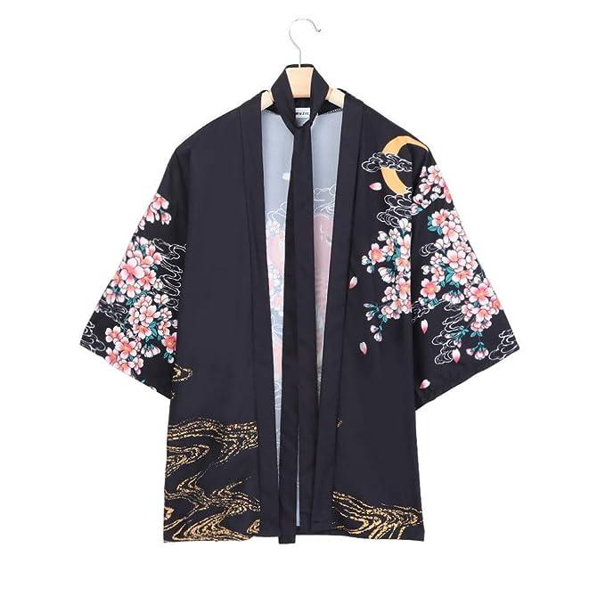 ZORE Women Coat Mujer China Chica Abierto Cabo Casual Abrigo Blusa Kimono Chaqueta Cardigan (72CM