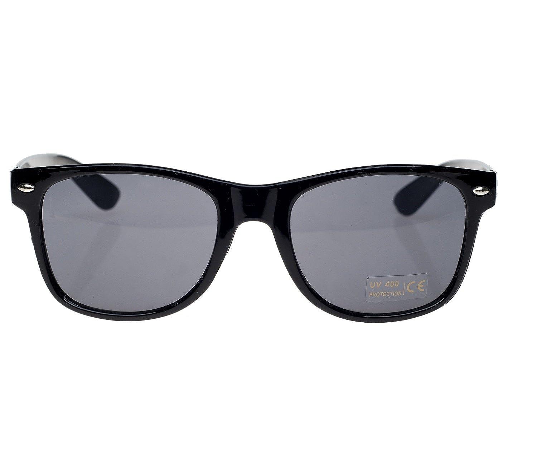 e28ff468341a4 4sold negro gafas de sol Classic Unisex Geek estilo retro 1980 Wayfarer  Gafas de sol con