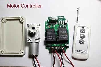 Lejin Universal 12v Dc Motor Control Radio Remote Control High Performance 30a Range 200m Linear Actuators Linear Motor Forward And Reverse Radio Remote Control Pump Winch Door Control Shutters Curta