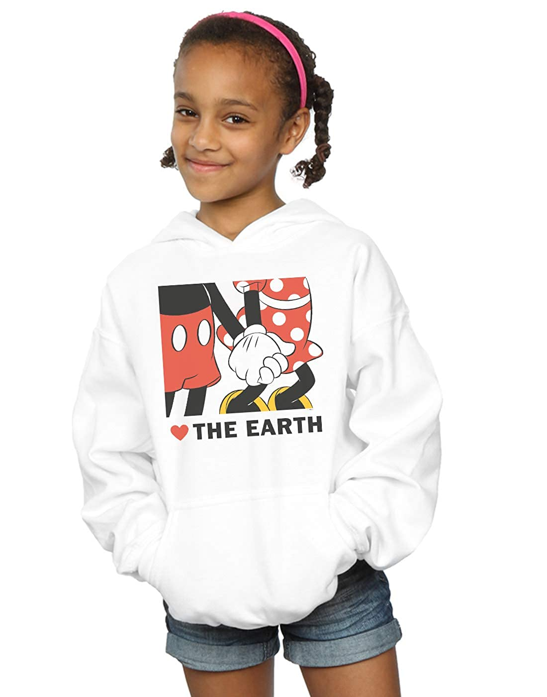 Disney Girls Mickey Mouse Heart The Earth Hoodie