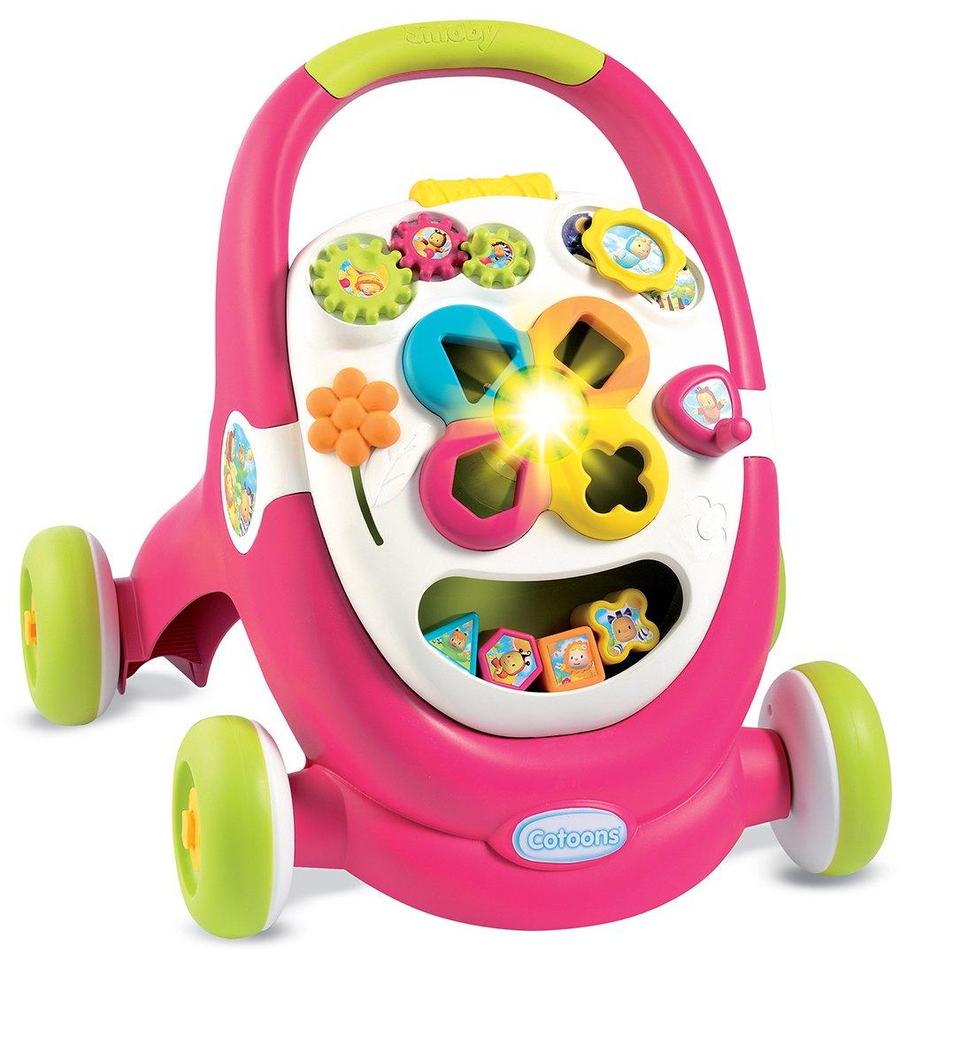 Smoby–Cotoons Trott–Andador para niños–multifunción–Luces y Sonidos 110303