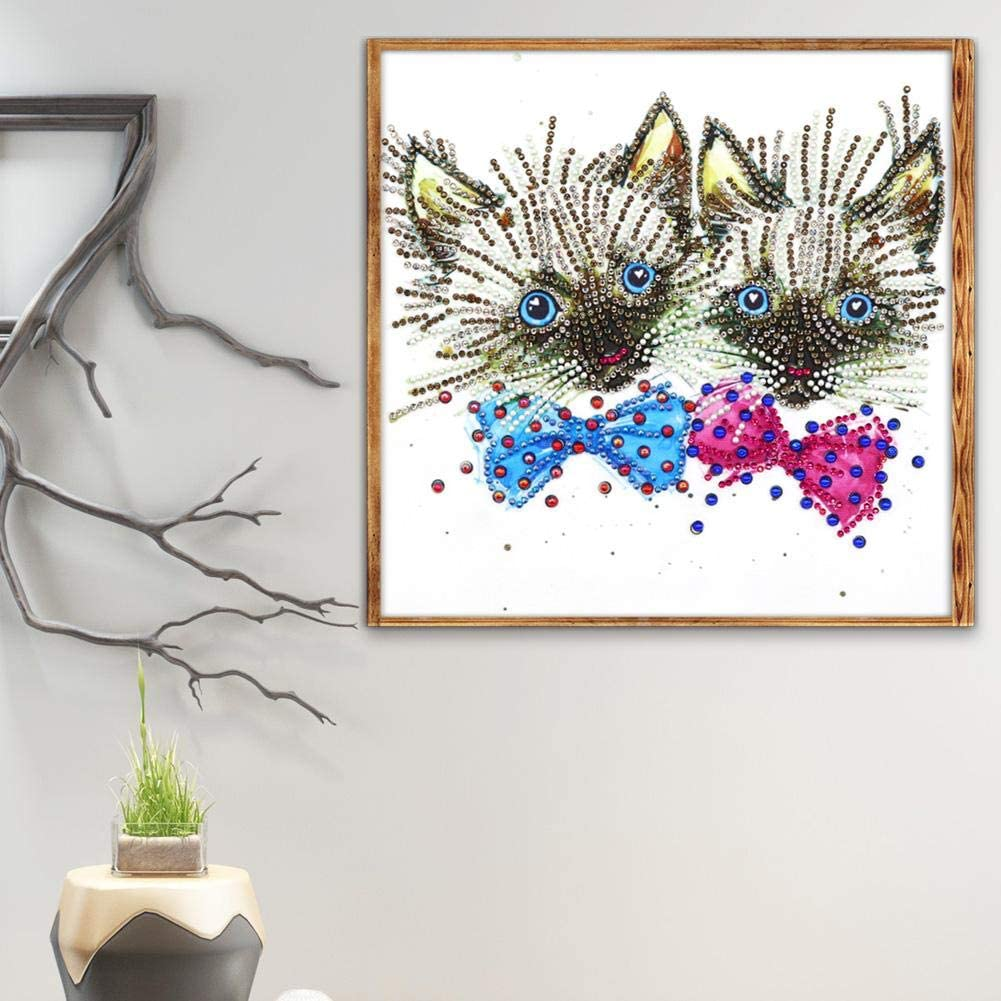 5D DIY Special Shaped Diamond Painting Cats Pattern Cross Stitch Wall Decor DIY 5D Diamond Painting by Number Kits