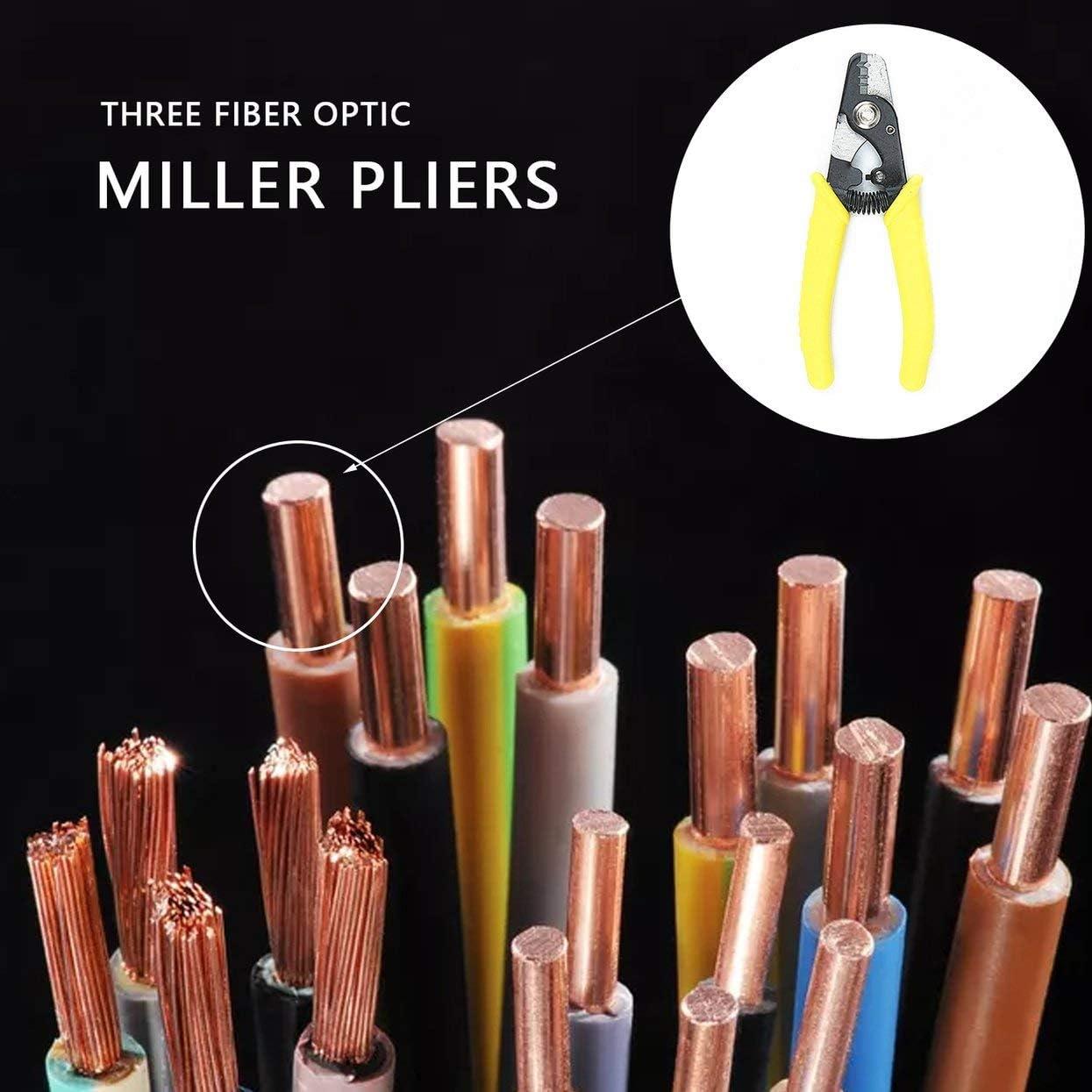 Tree-on-Life Pinza spelafili Fibra Miller Fis Tri-Hole Fibra Ottica Stripper Tre Fori Fibra Ottica Stripper Miller Wire Stripper