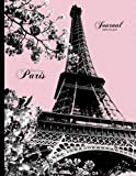 Eiffel Tower, Paris Journal - Bullet Dot Grid: Pink And Black Vintage Design 8.5 x 11 Notebook (Vintage Notebooks To Write In)