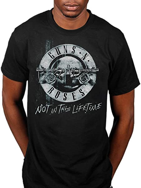 Mens Guns n Roses Bullet Logo Slash Axl Rose offiziell M/änner T-Shirt Herren