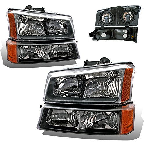 SPPC Black Headlights For Chevy Silverado and Avalanche Set (Pair) High/Low Beam Bulb Included (06 Avalanche Headlights compare prices)