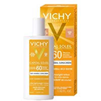 Vichy Capital Soleil Tinted Mineral Sunscreen for Face SPF 60, Lightweight Face...