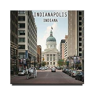 Indianapolis Fridge Magnet Indiana Travel Souvenir Square