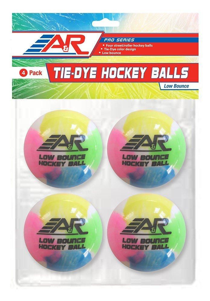A&R Sports Tie-Dye Hockey Balls (Pack of 4)