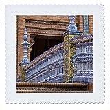 3dRose Danita Delimont - Bridges - Spain, Andalusia, Seville. Plaza de Espana, regionalism architecture. - 14x14 inch quilt square (qs_277886_5)